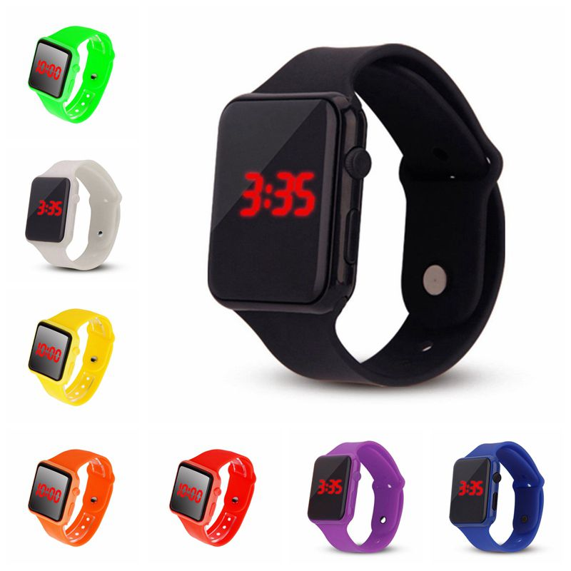 Fashion Unisex Men Women Watch Reloj De Los Hombres Children Digital LED Sports Watches Silicone Band Wrist Watches Gifts