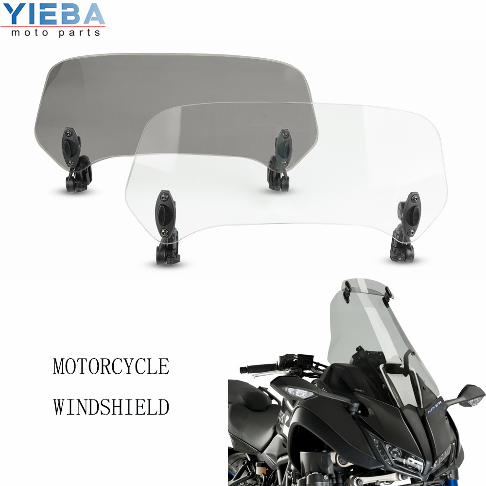 Motorcycle accessories Risen Adjustable <font><b>Windscreen</b></font> Windshield Extend Air Deflector For <font><b>SUZUKI</b></font> SV650SF <font><b>GSX650F</b></font> GSX-S1000 ABS image