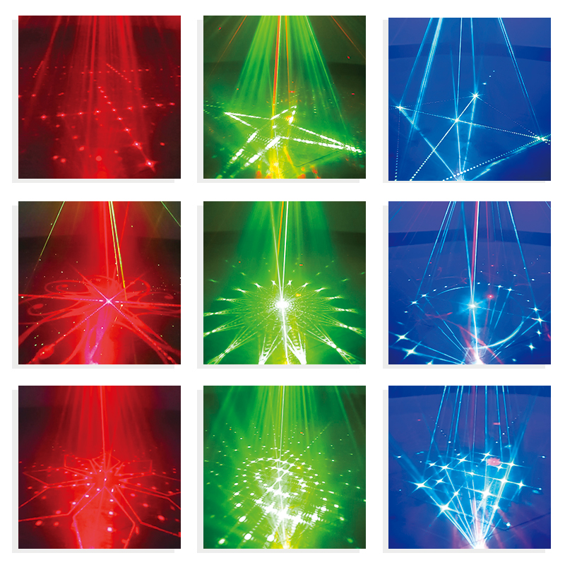 WUZSTAR 8 Holes 128 Patterns Laser Light Disco Lights LED DJ  Lighting Party Stage Decoration for Home Wedding Festival sound 1