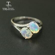 Pierścień opalowy naturalny kamień szlachetny owalny 6*8mm, solidna 925 sterling silver prosta konstrukcja biżuterii świątecznej dla kobiet, żona fajny prezent