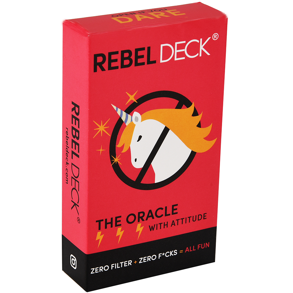 REBEL DECK- The Game- An Oracles Game Of Intuition And Divination Tarot Card Games With Attitude Zero Filter Zero Fcks