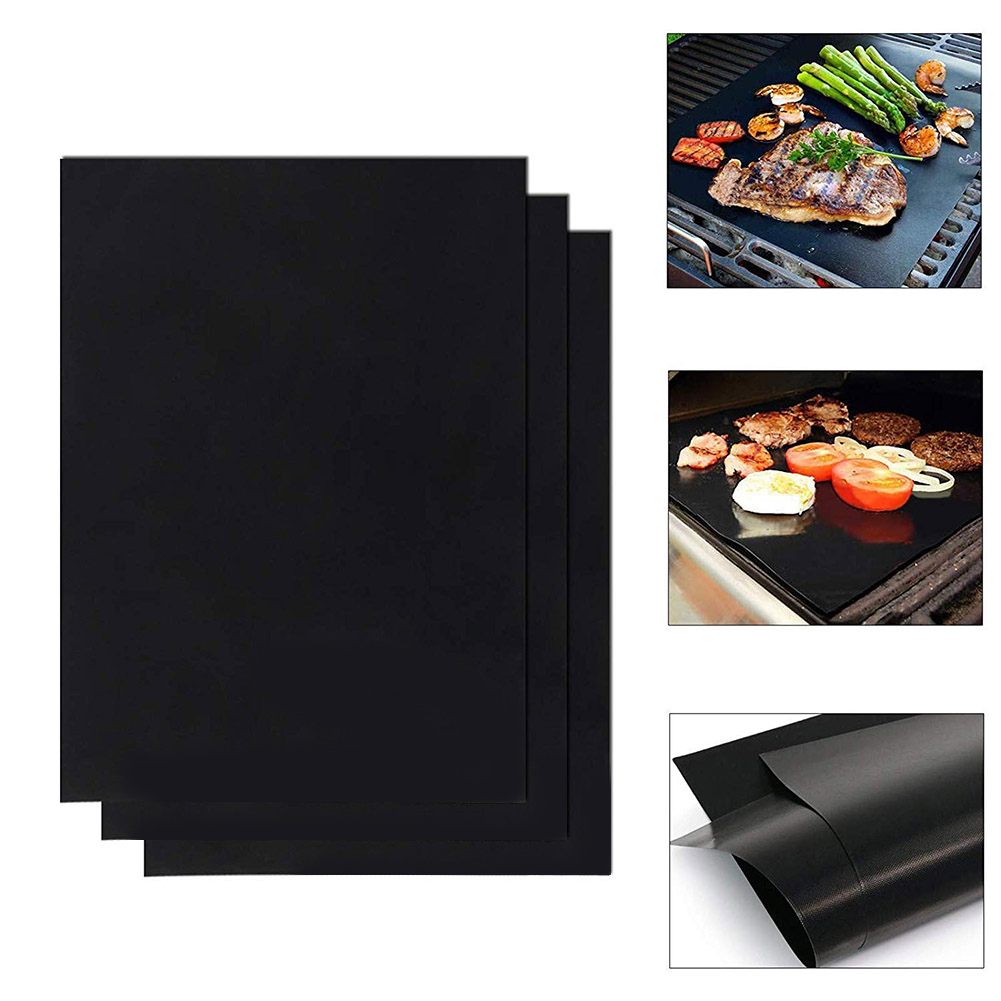 1pc Oven Steamer Pizza Barbecue Mat Picnic Heat Resistance BBQ Grill Sheet Pad Picnic Reusable Non-stick Outdoor BBQ Tools