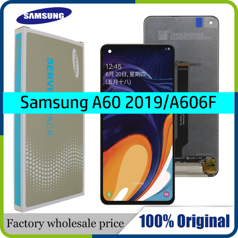 100% Original 6.3'' LCD Display For Samsung galaxy A60 A606F/DS A6060 A606FD Touch Screen Digitizer Assembly+Service package