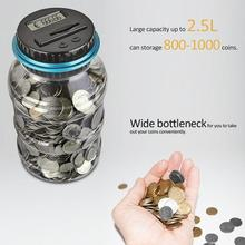 Лидер продаж, цифровой счетчик монет большой емкости, USD/EUR/GBP, цифровая банка для экономии денег, коробка, банка, счетчик монет, бутылка, прозрачная свинья, горячая распродажа
