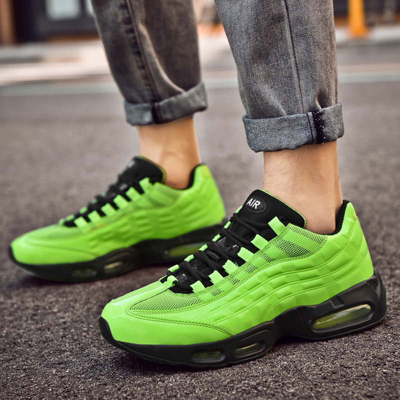 Retro Fashion Green Outdoor Mens Running Shoes Max Air Sneakers Size 47 Men Sport Shoe Air Trainers Streetwear Deportivas Hombre