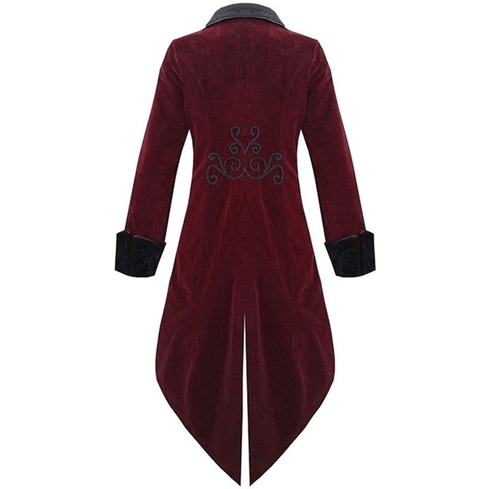 Plus Size S-5XL Autumn and Winter Men`s Fashion Clothing Fashion Gothic Steampunk Windbreaker Dress Coat (4)