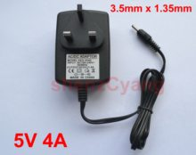 50 шт. Замена 5V 4A AC-DC адаптера переменного тока Зарядное устройство штепсельная вилка британского стандарта DC 3,5 мм для lenovo Ideapad 100S-11IBY 80R2