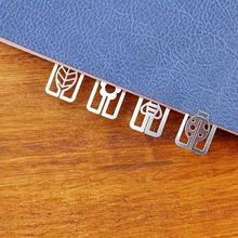 20 sztuk śliczne Mini geometryczne Book Marker biurowe biuro szkolne metalowe zakładki do książek do zaznaczania stron