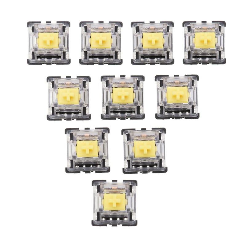 70PCS KS-8 Series Yellow Pack Gateron Linear Switch Keyboard Switch 3Pin  For Mechanical Gaming Keyboard