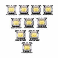 70 pièces KS-8 série jaune Pack Gateron commutateur linéaire clavier commutateur 3Pin pour clavier de jeu mécanique