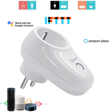 SONOFF S26 Smart Plug EU Wifi Power Socket Outlet Timing Plugs Switch App Remote Control Compatible with Alexa Google Home IFTTT