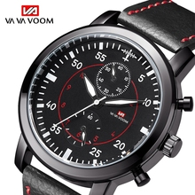 VAVAVOOM Men's Sports Waterproof Watch Army Aircraft Pilot Field