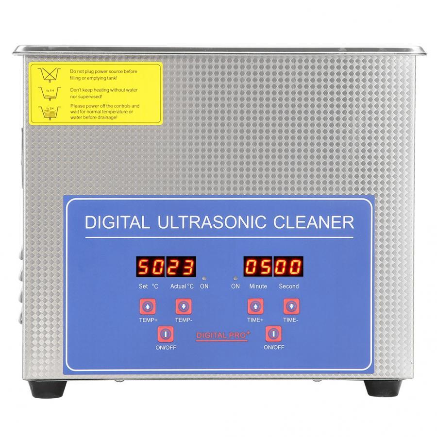 3L Roestvrij Staal Ultrasone Reiniger met Verwarming Mechanische Commerciële Grade Voor Elektronische Componenten Sieraden Horloge Bril-in Ultrasone reinigers van Huishoudelijk Apparatuur op  Groep 1