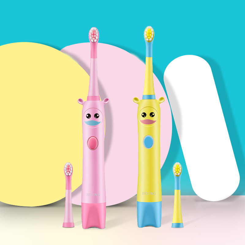 Electric Toothbrush for Children Age 3+ Gum Care Oral Health Soft Teeth Brush for Kids Sonic Wave Cleaning 2 Brush Heads 3 Modes image