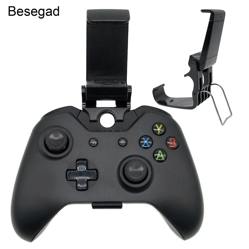 Besegad Universal Adjustable Mobile Phone Mount Bracket Holder Stand Clip Clamps For Microsoft Xbox One XboxOne Controllers