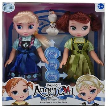 Hot 3pcs Princess Anna Elsa Dolls For Girls Toys 25cm Pvc Plastic Baby Congelad