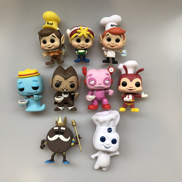 Ad Icons Exclusive Original Funko pop Jollibee Snap Crackle Rice Krispies King BEE Vinyl Action Figure Collectible Loose Toy