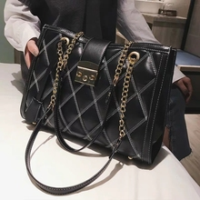 Autumn winter New shoulder bag Women's Handbags capacity Shopping Bags large Messenger black luxury Sac a Main femme Handbag