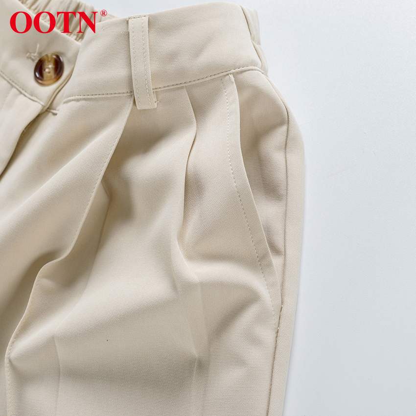 H0f34a36d4f9d4e889c07c5d3633959b2P - OOTN Casual High Waist Khaki Pants Women Summer Spring Brown Ladies Office Trousers Zipper Pocket Solid Female Pencil Pants