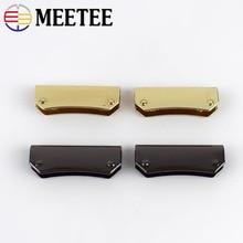 4/10/20pcs Meetee 35mm Luggage Wallet Edge Banding Metal Buckle Handbag Corner Protection Hardware Decoration Accessories BF216