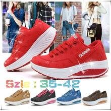 Женские кроссовки увеличивающие рост; Летняя дышащая обувь на
