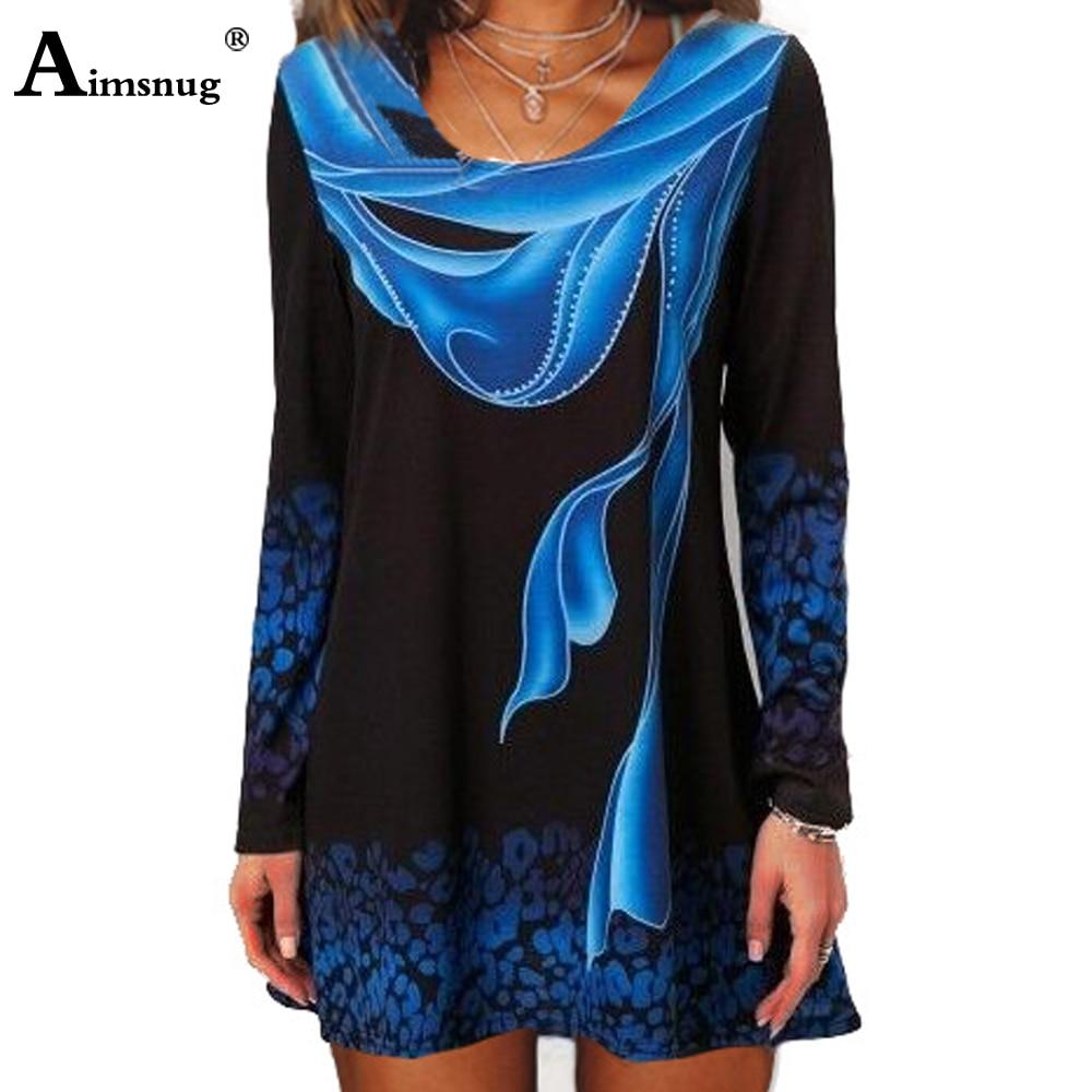 Plus size 4xl 5xl 2019 Women New summer Boho Print Blue Tops...