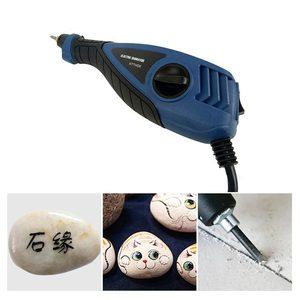 Image 2 - WSFS Mini amoladora eléctrica con enchufe europeo, máquina de tallado para Metal, madera, grabado en vidrio, herramienta lijadora eléctrica, pluma de grabado