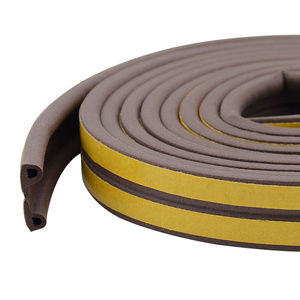 Image 5 - 10M/roll Self Adhesive door seal strip Rubber Weather Strip Windproof Soundproof window sealing tape  hardware accessories