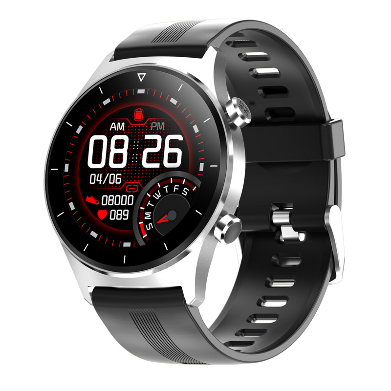 H0f356b4d45724e5da3da104585cb334af E1-3 Smart Watch Men 1.28 inch Full Touch Screen IP68 Waterproof Bluetooth 5.0 Sports Fitness Tracker Smartwatch For Android IOS