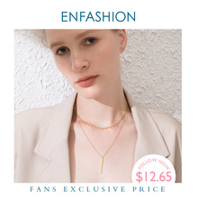 ENFASHION Vertical Bar Chain Choker Necklace Women Accessories Stainless Steel Pendants Necklaces Fashion Femme Jewelry P193019