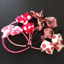 цена на 1 Pcs/lot Kids Bow Knot Headband Children Hair Accessories Girls Grosgrain Ribbon Headwear Girls Hairband