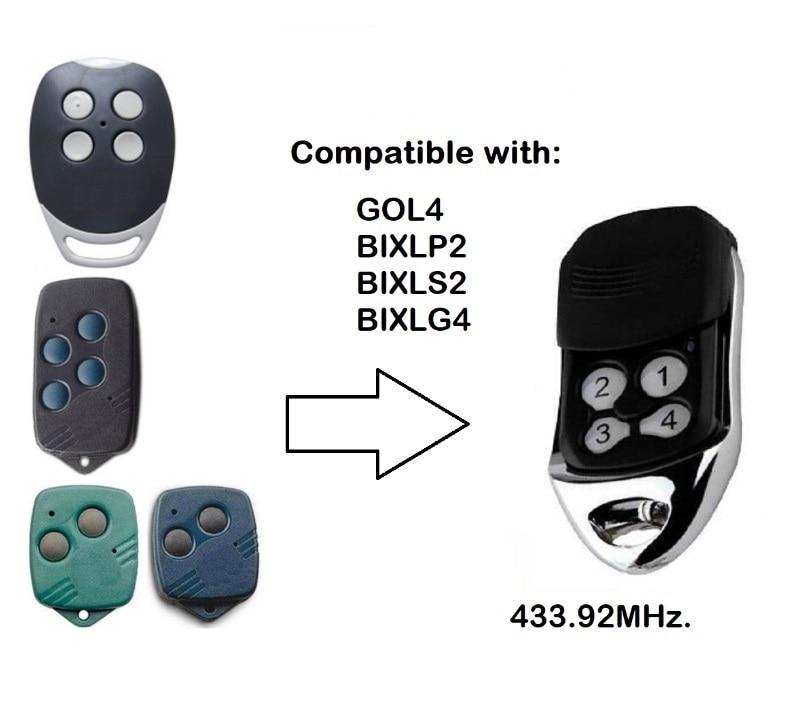 1pcs FOR GOL4,BIXLP2,BIXLG4 Rolling Code 433mhz Replacement Garage Door Remote Control