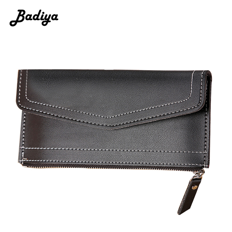 Women Long Wallet Brief Fashion Thin Slim Hasp Zipper Purse Multifunction Students Envelope Bag Japan And South Korea Clutch Bag
