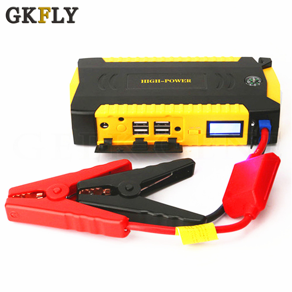 GKFLY Car Jump Starter Power Bank 16000mAh 12V Portable Starting Device 600A Car Charger For Car Battery Booster Buster LED