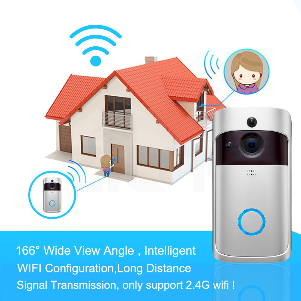 Image 4 - Smart Video Doorbell Wireless WIFI DoorBell Camera 720P Home Security IP Intercom Door Phone Battery Powered PIR Alarm Cloud-in Video Intercom from Security & Protection