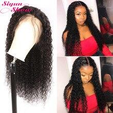 Peluca de onda de agua de 250 de densidad peluca ondulada y húmeda de 30 pulgadas con malla frontal 13x6 pelucas de cabello brasileño, pelucas de cabello humano rizado Remy para mujer