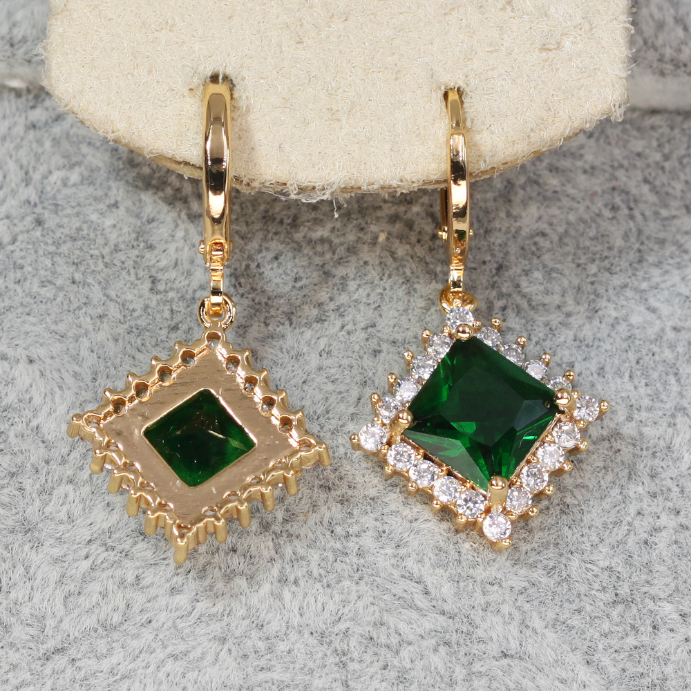 H0f360bca25ad42f38d4aa0c62a2d0474x - Trendy Vintage Drop Earrings For Women Gold Filled  Red Green Pink Lavender Zircon Earrings Gold  Earring Wedding  Jewelry