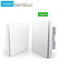 Aqara-Interruptor de pared inteligente Mijia, Control de luz de casa, cable de fuego único ZigBee, llave inalámbrica a través de teléfono inteligente, aplicación para hogares y Control remoto