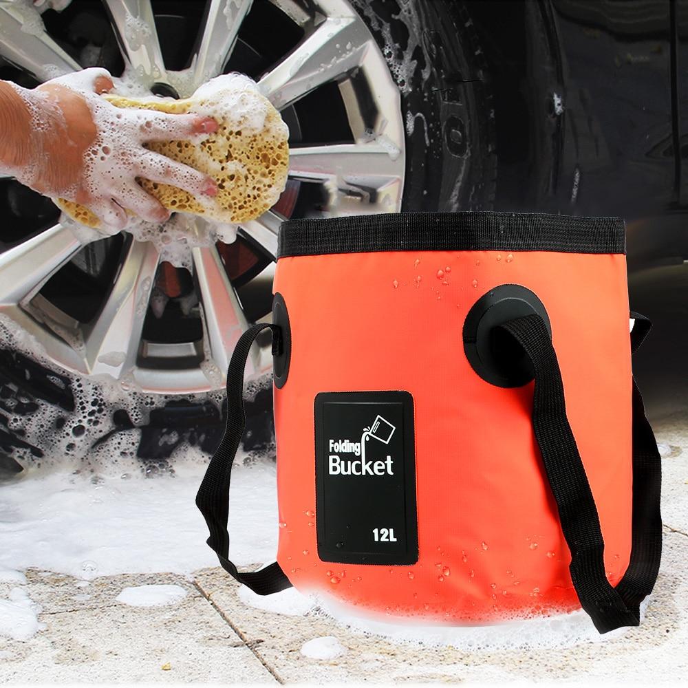 NICEYARD 12L Car Wash Bucket Bowl Sink Washing Bag Folding Bucket Portable Outdoor Travel Foldable Water Bucket