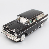1/24 Scales classic car 1957 Chevrolet Nomad station wagon Chevy Van car metal auto Diecast Vehicles model toy mint Replicas kid