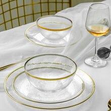Скандинавский Пномпень стеклянная тарелка прозрачная Салатница