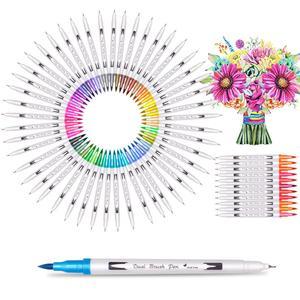 Image 2 - Aquarellen Borstel Pen Art Markers Schets Pen Tekening Borstel Set 12 24 36 48 60 72 100 120 Kleuren Professionele markers Terug School
