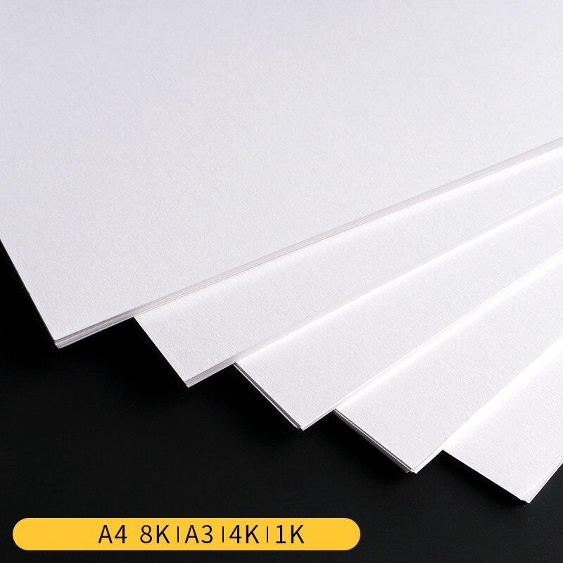 Blank Kraft Paper Postcard A3/A4/8K/4K/1K Hand Drawing DIY 180/250/300/350gsm White Kraft Paper DIY Handmake Card Making Paper