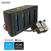 DMYON Replacement for Canon PG40 CL41 CISS Bulk Ink for IP1200 IP1600 IP1800 IP1900 MX300 MX310 MP145 MP150 MP160 MP180 Printer