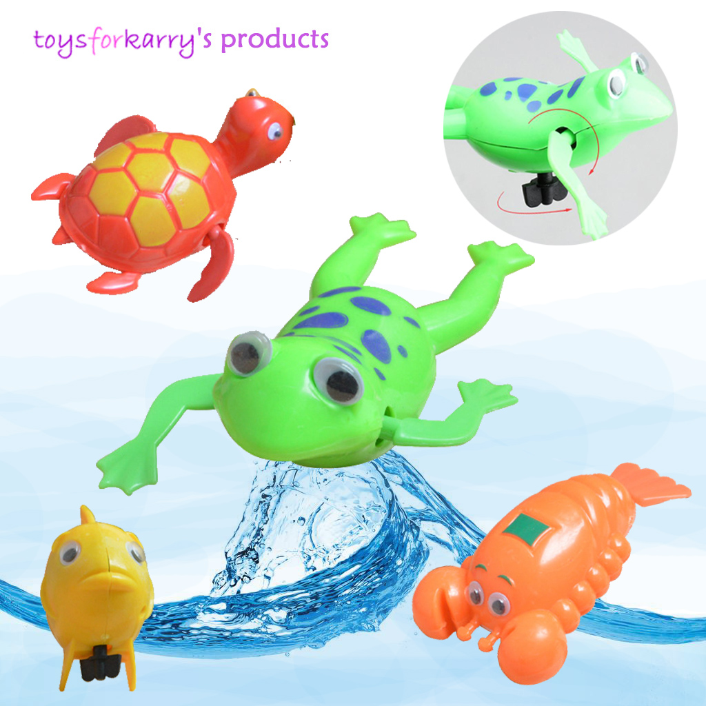 Sale Cartoon Baby Kids Bath Toy Swimming Fish Shaped Clockwork Toy Wind Up Toy