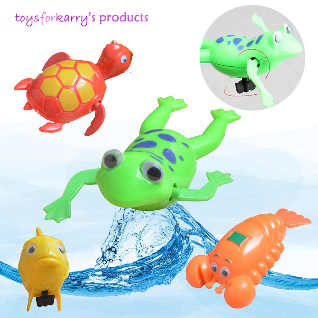 Juguetes de baño para bebés, juguetes de baño para niños, juguetes de baño con batería, Tortuga de rana camarones