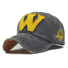 Men Baseball Cap  Napback  Hat  Cotton Embroidery Letter W Cotton Caps Autumn  New Men Women Sport  Baseball Cap Retro