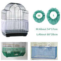 Free Shipping Cage Net New Bird Cage Covers Mesh Catcher Guard Bird Cage Net Shell Skirt Dust-proof Airy Mesh Parrot Cage Cover