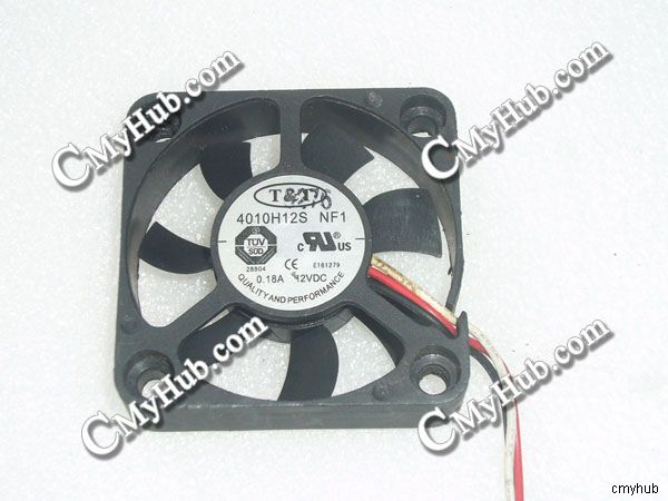 40x40x10mm PLA04010D12HH-2 12V 0.18A 3Wire 4cm 4010 Cooling Fan