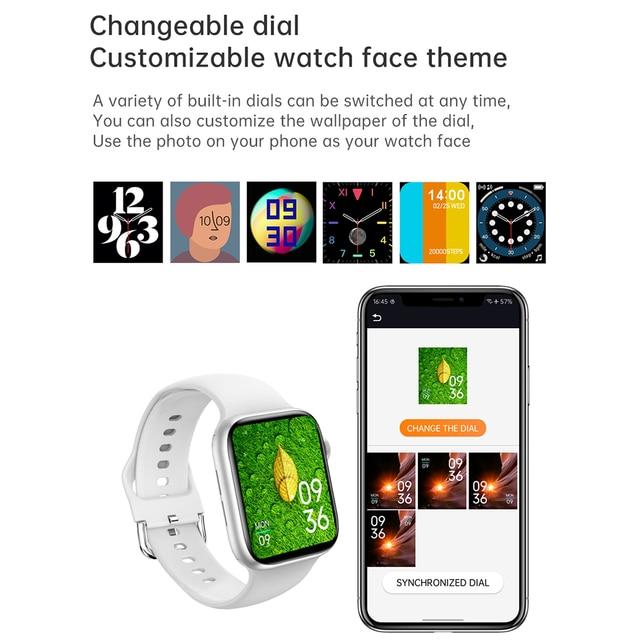 IWO 13 Pro T800 Smartwatch 2021 1.72 Inch Bluetooth Call DIY Dail Fitness Bracelet Smart Watch Men Women PK IWO W46 W56 Series 6 4